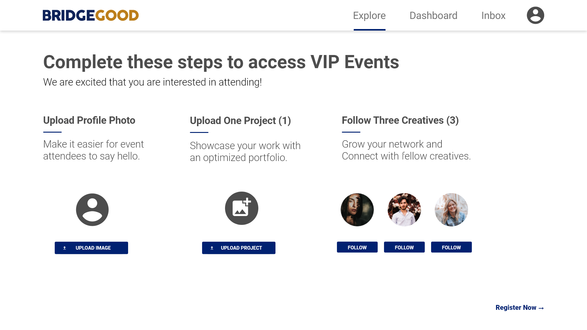 VIP Event – Registration – 1
