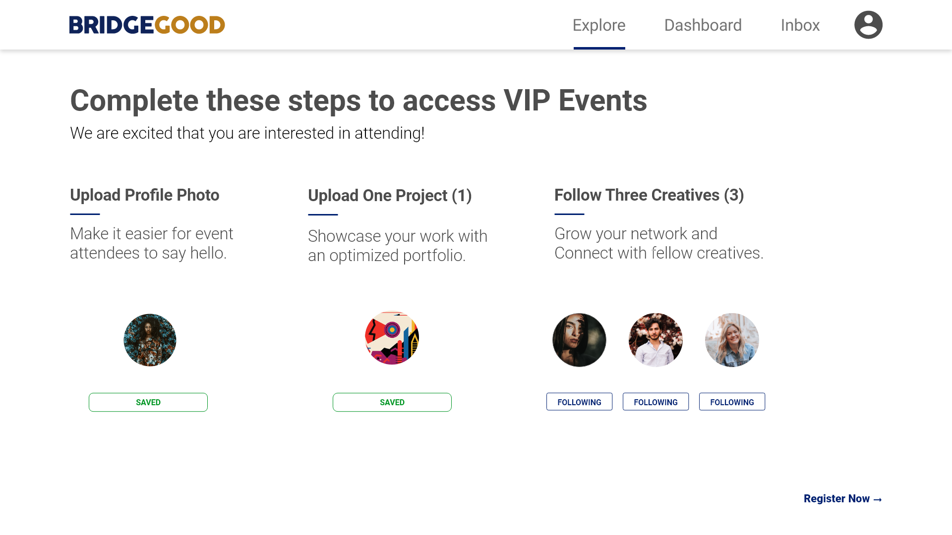 VIP Event – Registration – Completed – Saved